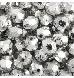 Faceted Round  8mm Silver x250