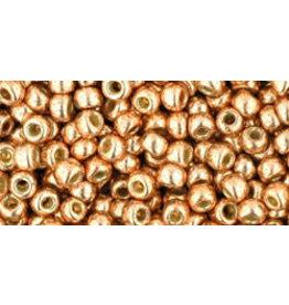 Toho pf551B 8  Round 40g  Rose Gold Metallic