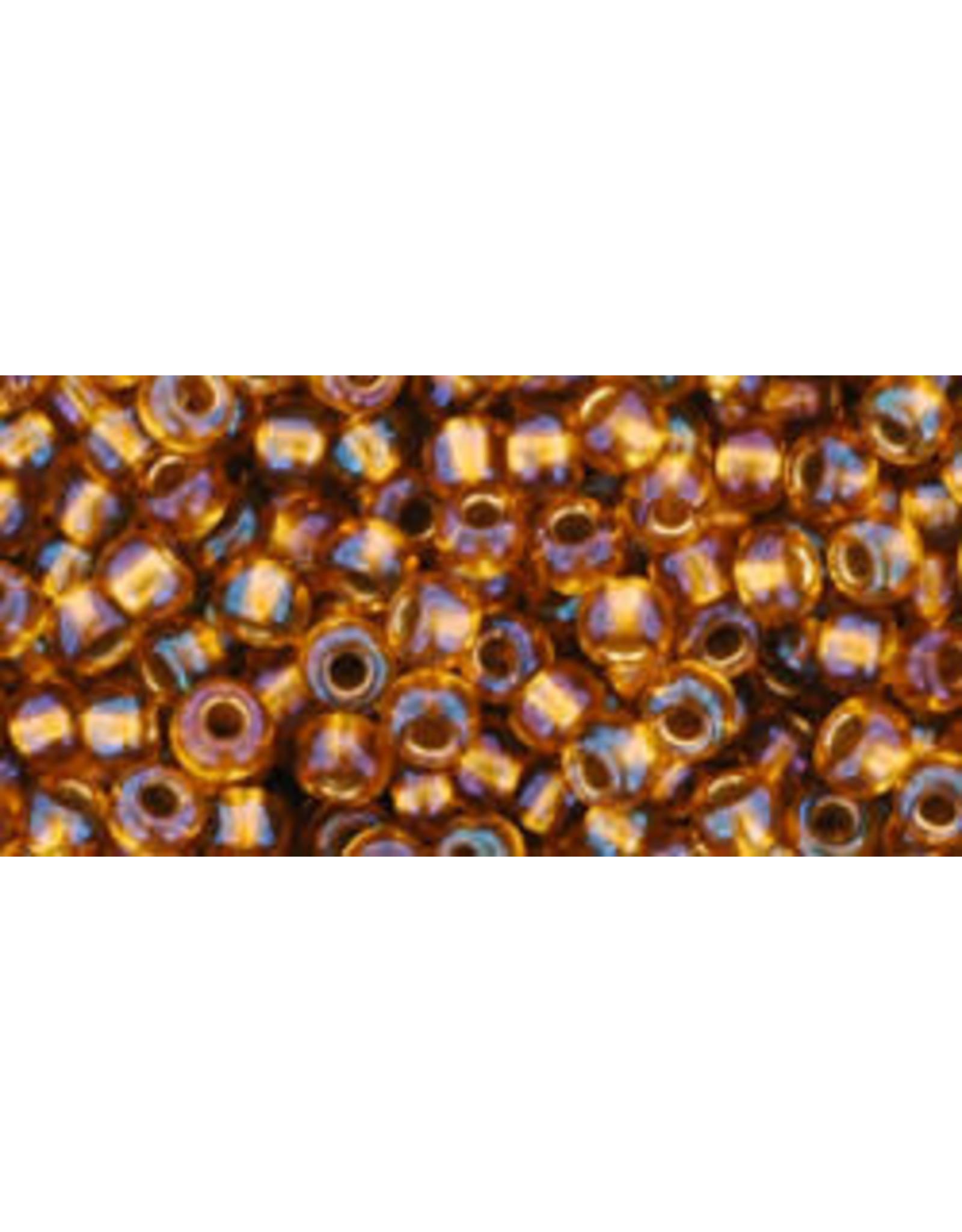 Toho 1853B 8  Round 40g  Transparent Topaz Gold Lined AB
