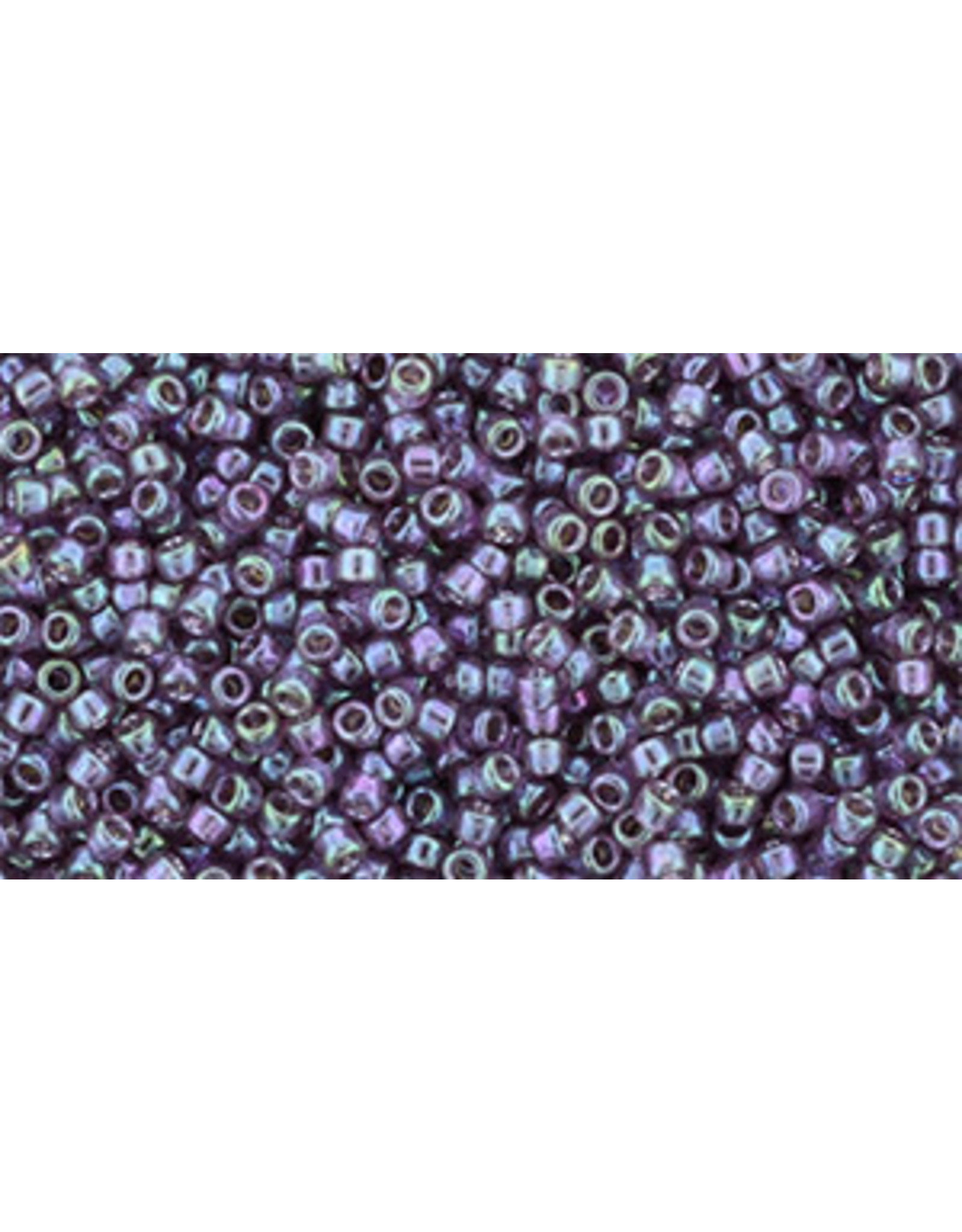 Toho 206B 15  Round 20g  Plum Purple Green Gold Lustre