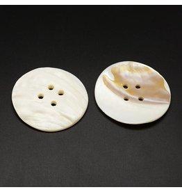 Shell Button 55x5mm Cream Brown White x1