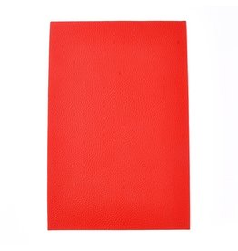 Faux Leather Beading Backing Red .5mm thick 8x12""