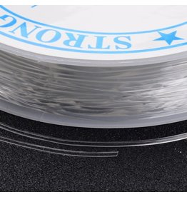 Elastic Cord Clear Round 1mm  x4.5m