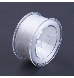 Elastic Cord  White Flat  .6mm  x50m