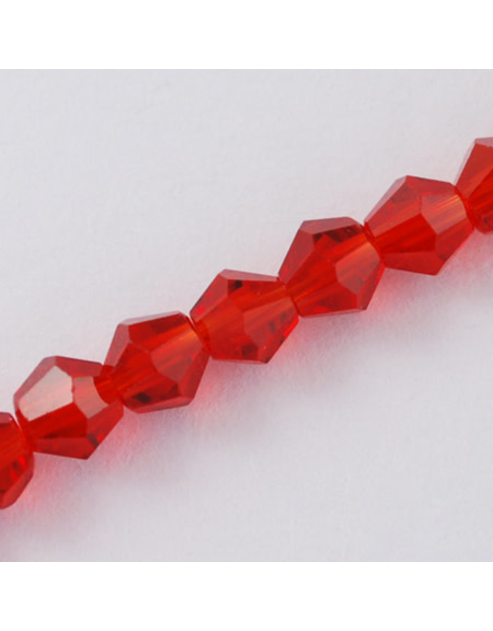 3mm Bicone  Red  x145