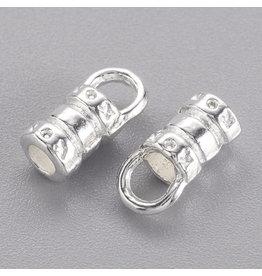 Cord End Crimp Silver for 2mm cord  x20