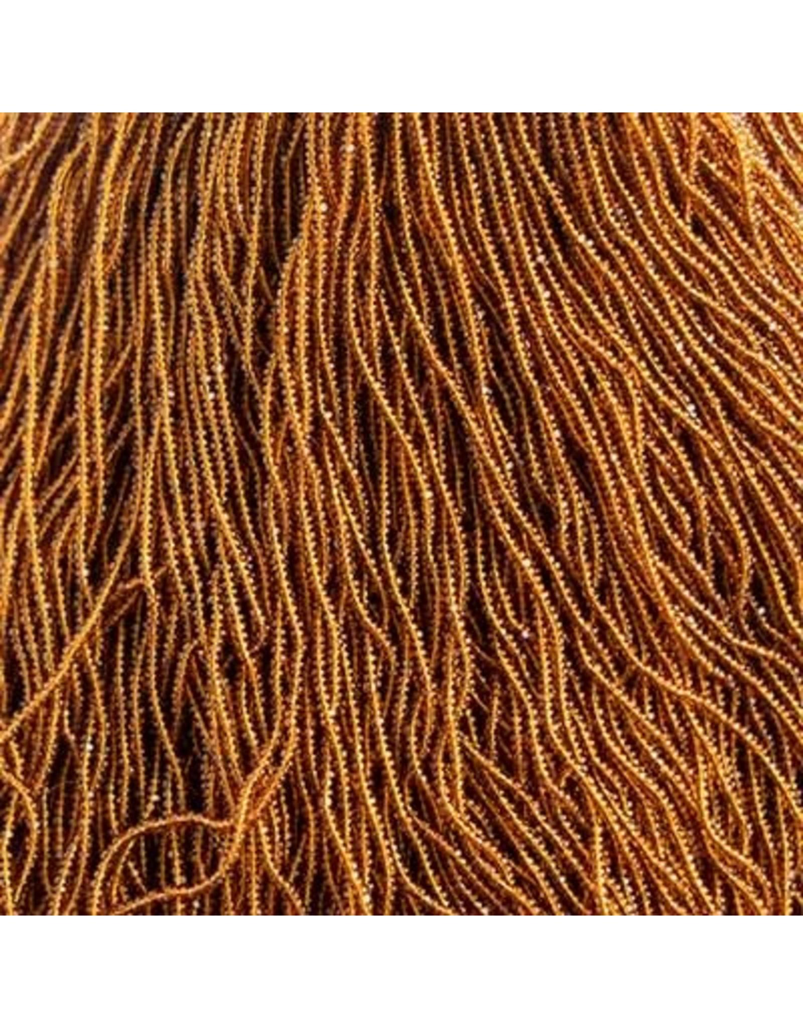 Czech 601045 13/0 Charlotte Cut Seed Hank 12g Transparent Topaz Brown