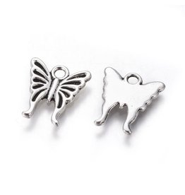 Butterfly  Antique Silver 16x14mm  x10  NF