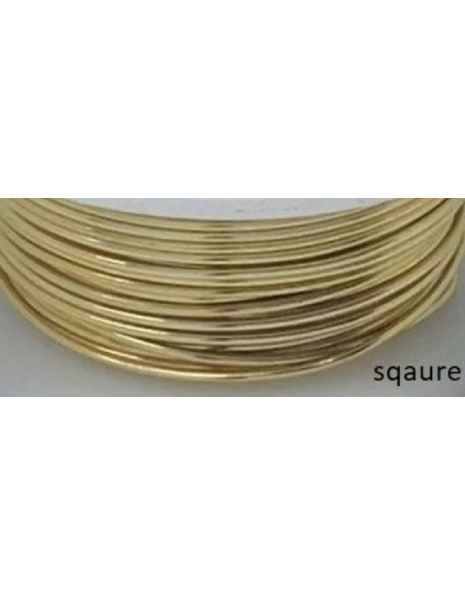 21g  Square Non Tarnish Gold  7y