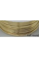 21g  Half Round Non Tarnish Gold  4y