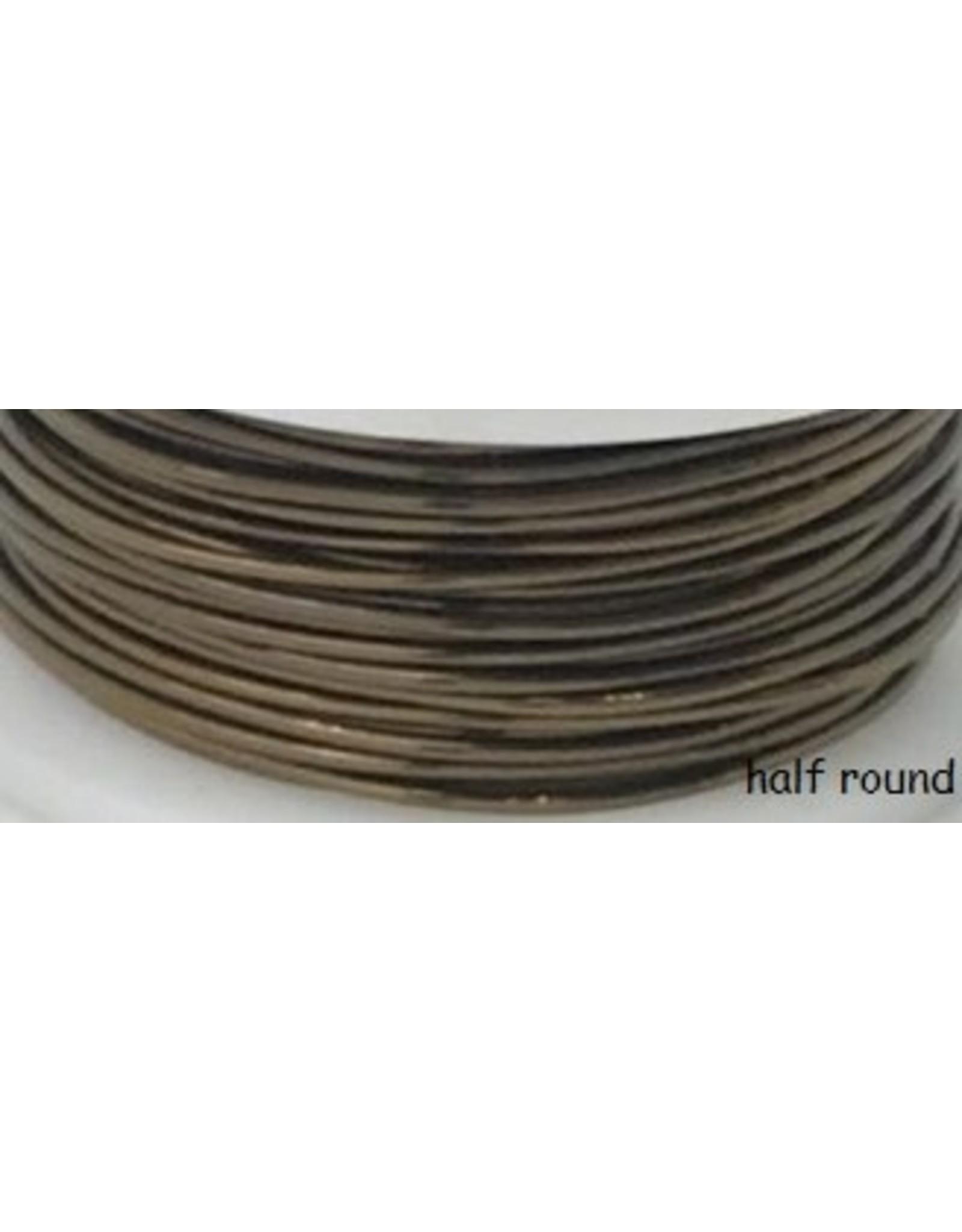 21g  Half Round Vintage Bronze Brown 7y