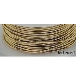 18g  Half Round Faux Gold  4y