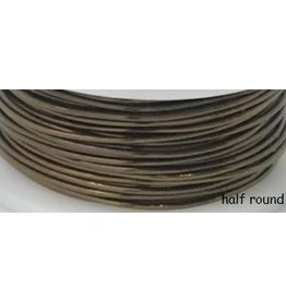 18g  Half Round Vintage Bronze Brown  7y