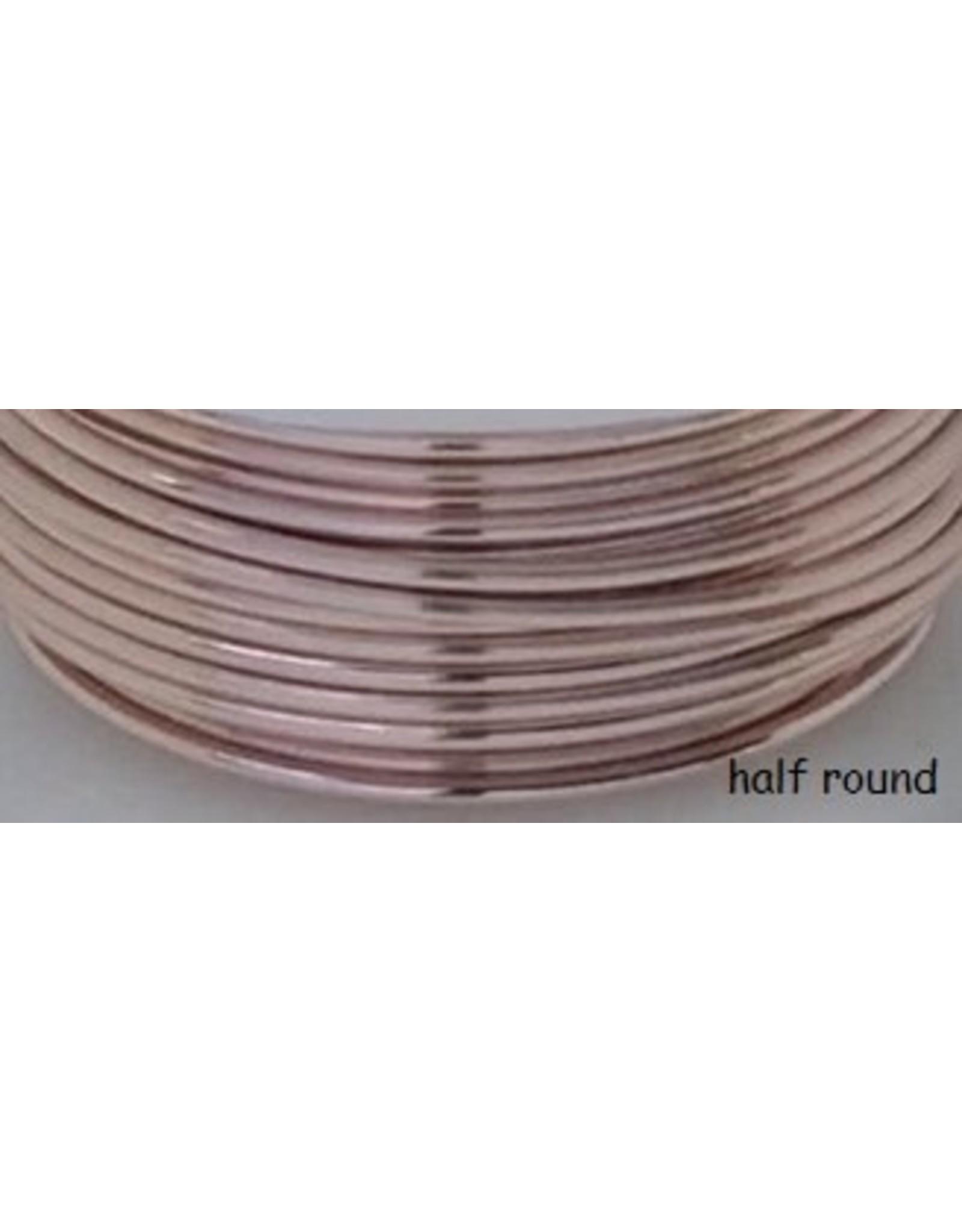 18g  Half Round Rose Gold 4y