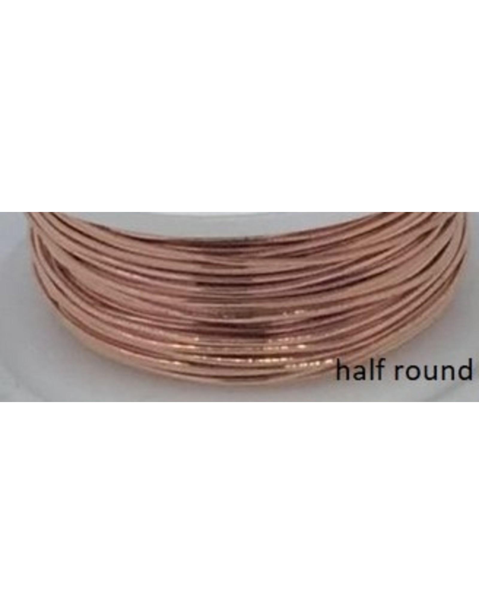 18g  Half Round Non Tarnish Copper  7y