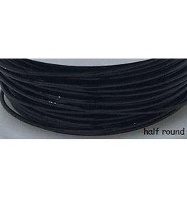 18g  Half Round Black  7y