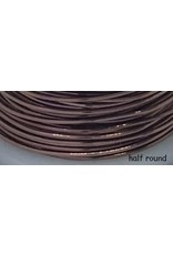 18g  Half Round Antique Copper   7y