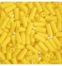Czech 34831  8x3mm Wampum Bugle 20g Yellow Matte