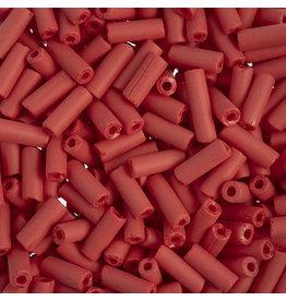 Czech 34832  8x3mm Wampum Bugle 20g Red Matte