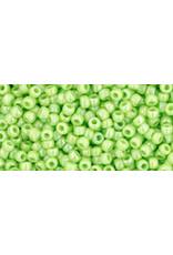 Toho 404 11  Round 6g Opaque Light Green AB