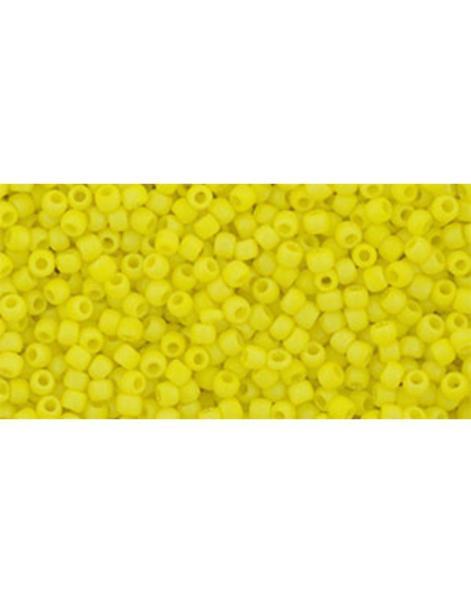Toho 402fB 11  Round  40g  Opaque Yellow AB Matte