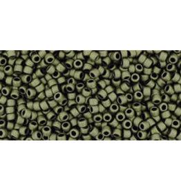 Toho 617B 15  Round  20g Opaque Dark Olive Green Matte