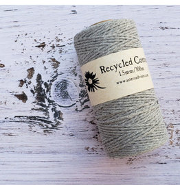 Recycled Cotton Cord  1.5mm  Grey  x100m