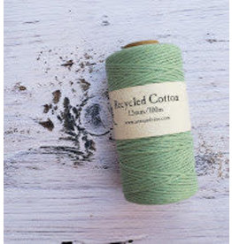 Recycled Cotton Cord  1.5mm Light Mint Green  x100m