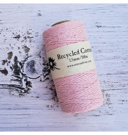 Recycled Cotton Cord  1.5mm Light Pink  x100m