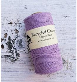 Recycled Cotton Cord  1.5mm Light Purple  x100m