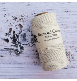 Recycled Cotton Cord  1.5mm Natural  x100m