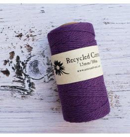 Recycled Cotton Cord  1.5mm Purple  x100m