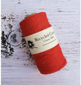 Recycled Cotton Cord  1.5mm Red  x100m