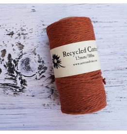 Recycled Cotton Cord  1.5mm Rust Brown  x100m