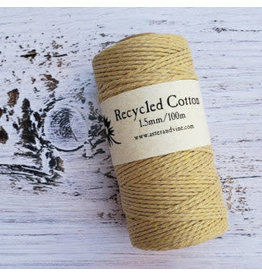 Recycled Cotton Cord  1.5mm Beige Brown  x100m