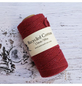 Recycled Cotton Cord  1.5mm Red Wine  x100m