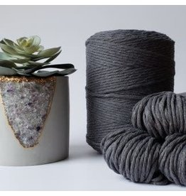 Recycled Cotton Cord  3mm Dark Grey 250ft