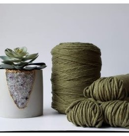 Recycled Cotton Cord  3mm Khaki Green 250ft