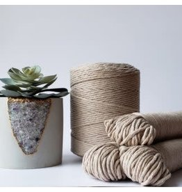 Recycled Cotton Cord  3mm Latte Cream Brown  250ft