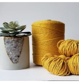 Recycled Cotton Cord  3mm Mustard Yellow  250ft