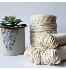 Recycled Cotton Cord  3mm Natural  250ft