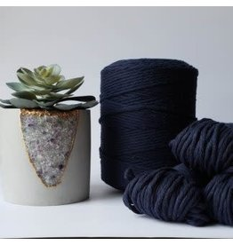 Recycled Cotton Cord  3mm Navy Blue 250ft
