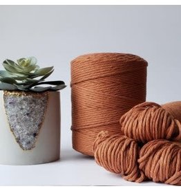 Recycled Cotton Cord  3mm Rust Brown 250ft