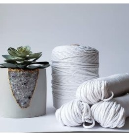 Recycled Cotton Cord  3mm White  250ft