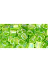 Toho 164  4mm  Cube 6g  Light Green AB