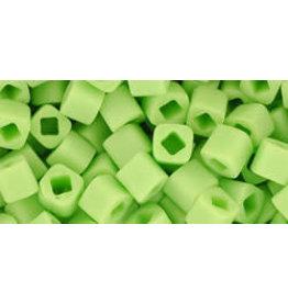 Toho 44f 4mm  Cube 6g  Opaque Light Green Matte