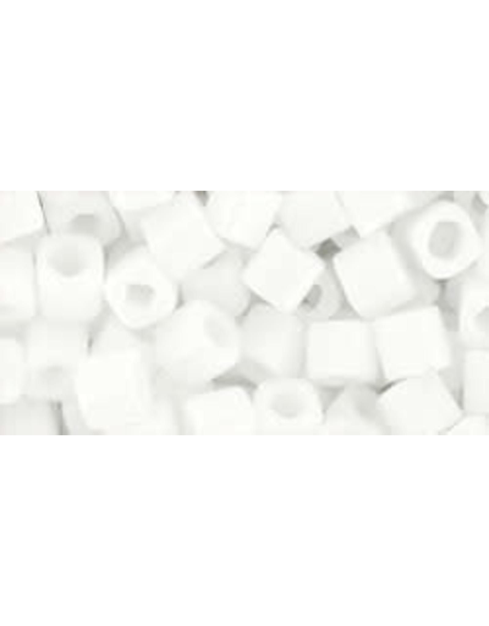 Toho 41  4mm  Cube  6g  Opaque White
