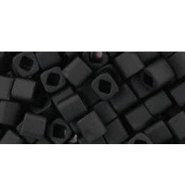 Toho 49f  4mm  Cube  6g  Jet Black Matte