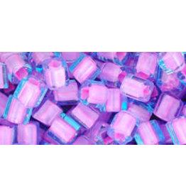 Toho 937  4mm  Cube  6g  Aqua Pink c/l