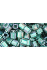 Toho 270f  4mm  Cube  6g  Clear Matte Teal Green  c/l